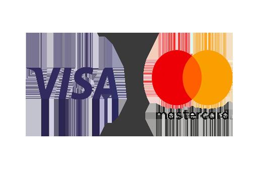 VISA oder Mastercard-Kreditkarte
